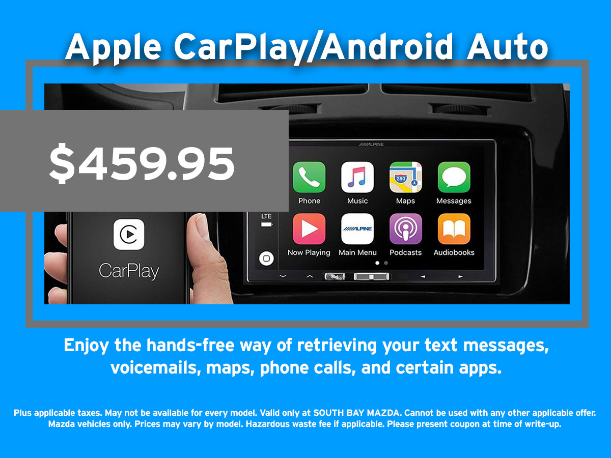 Apple CarPlay/Android Auto Coupon