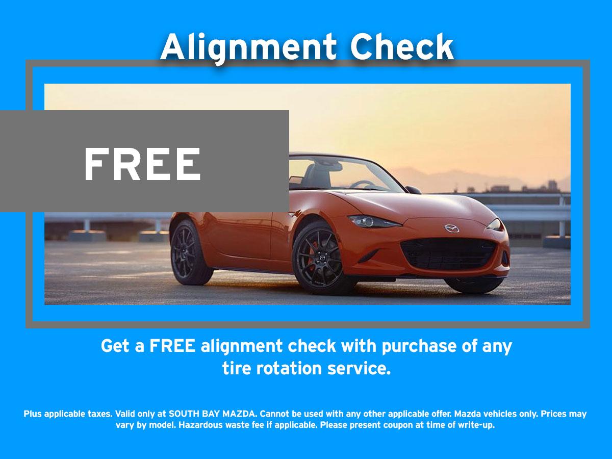 Mazda Alignment Service Coupon