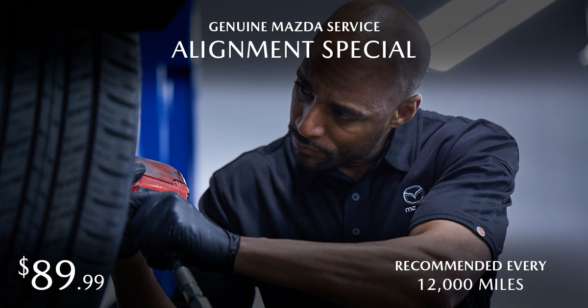 Mazda 4-Wheel Alignment Service Special Coupon