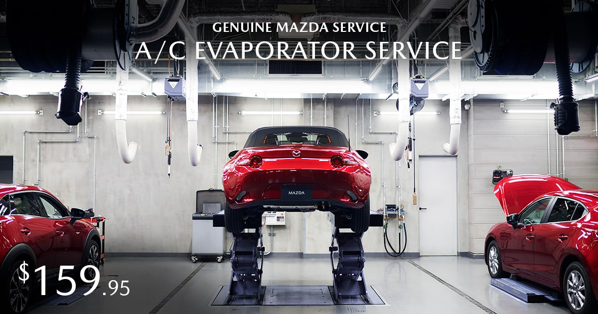 Mazda A/C Evaporator Service Service Coupon