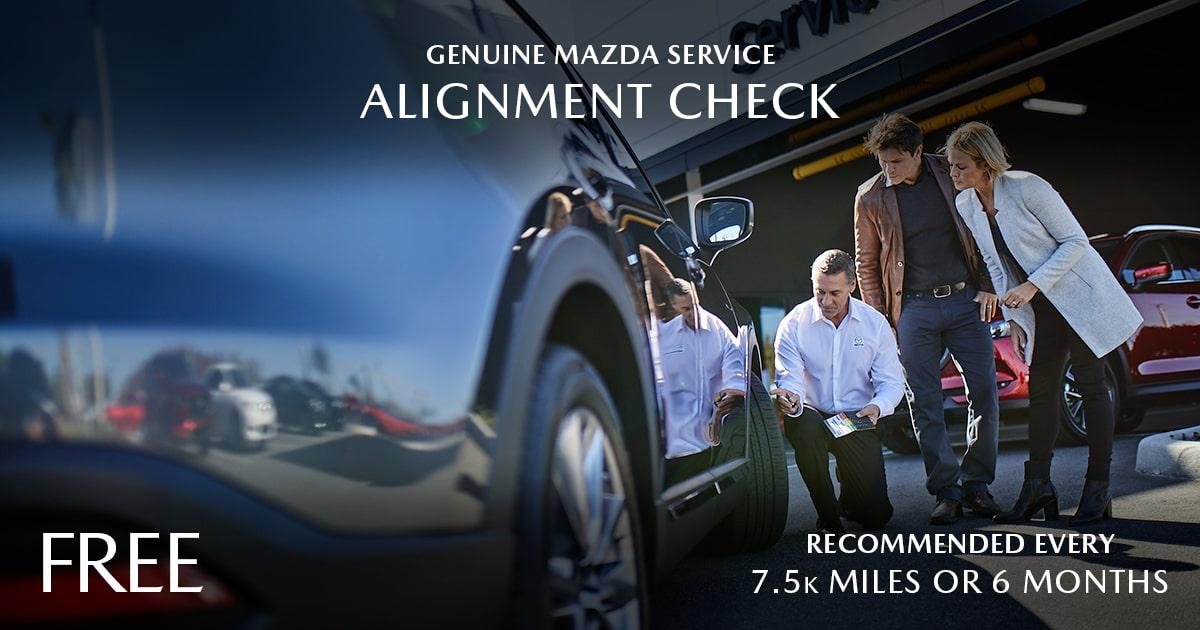 Mazda Aligment Check Service Special Coupon