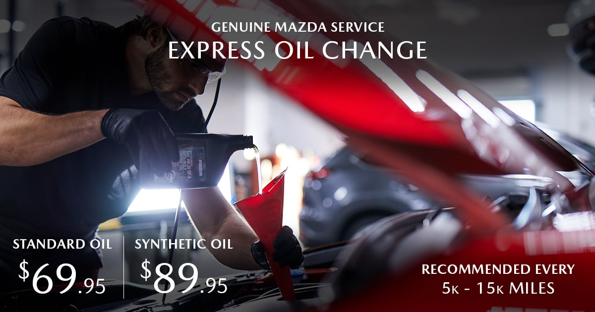Mazda Express Oil Change Service Special Coupon