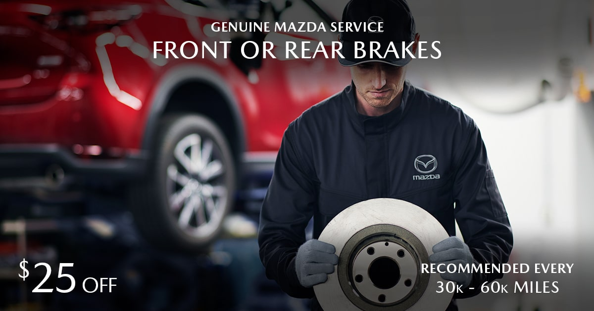 Mazda Front or Rear Brakes Service Special Coupon