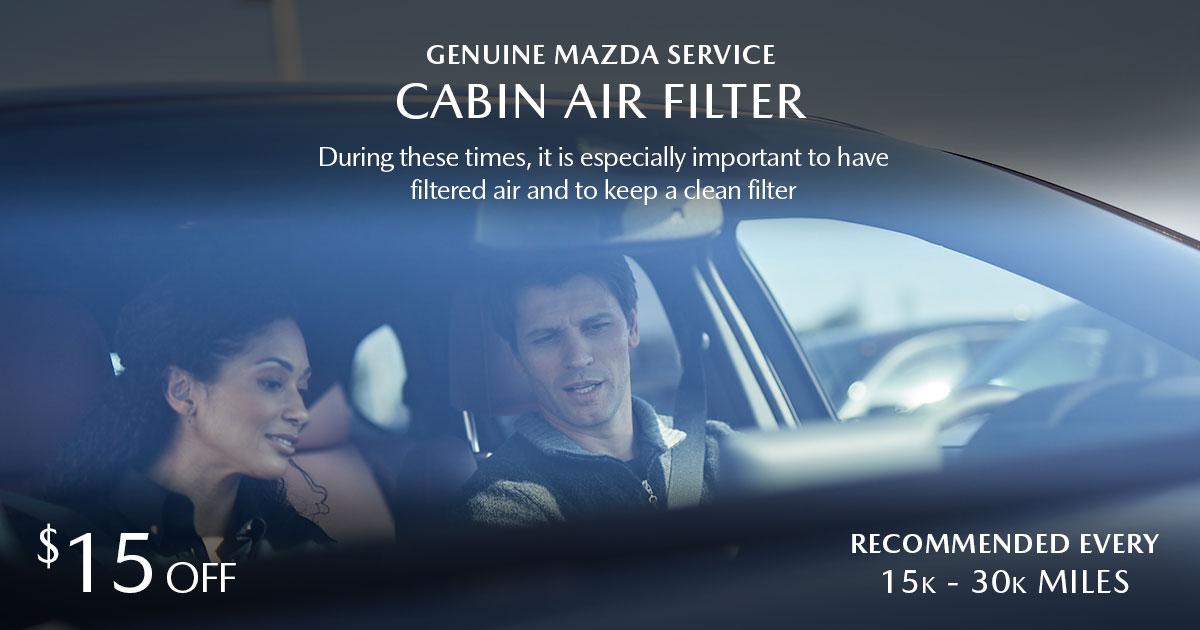 Mazda Cabin Air Filter Service Special Coupon