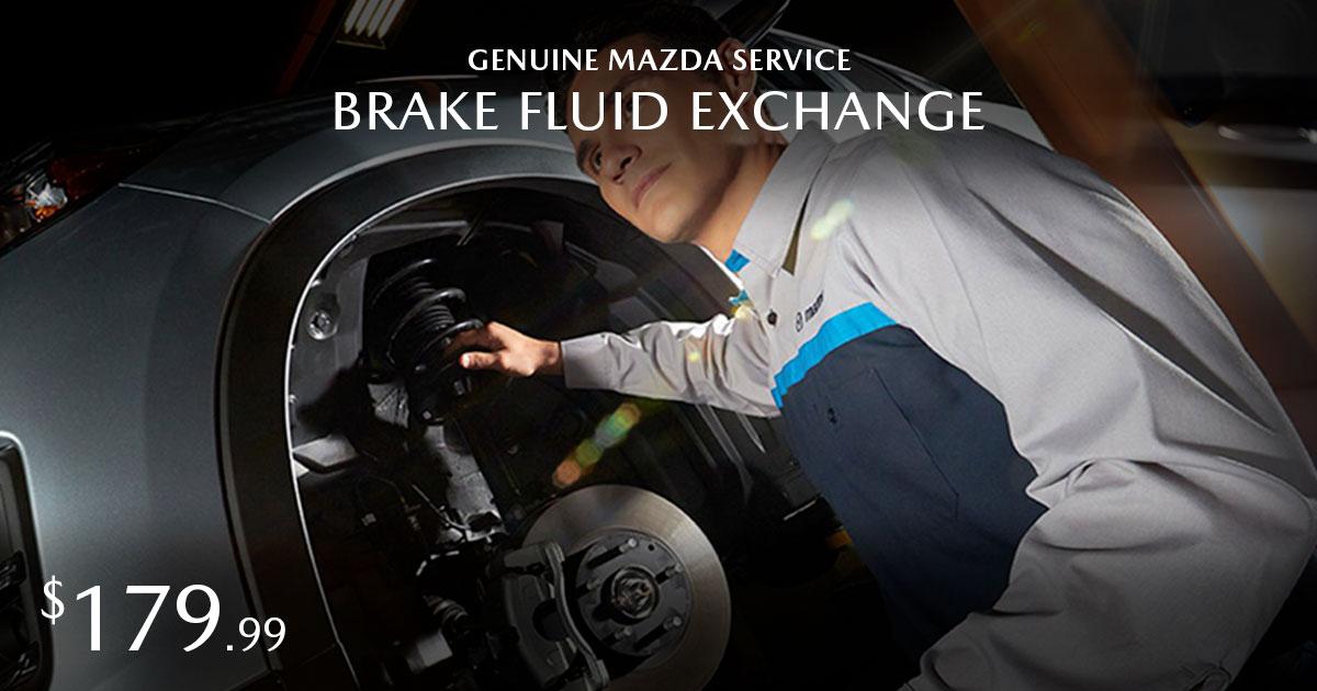 Mazda Brake Fluid Exchange Service Special Coupon