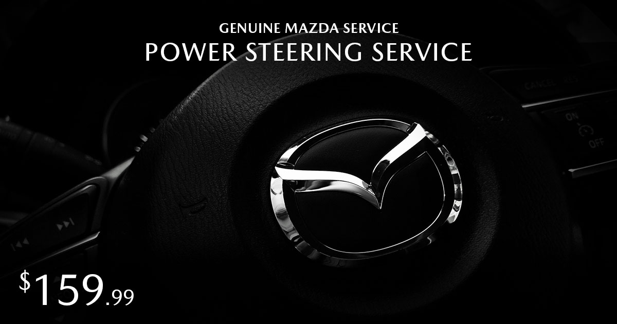 Mazda Power Steering Service Special Coupon