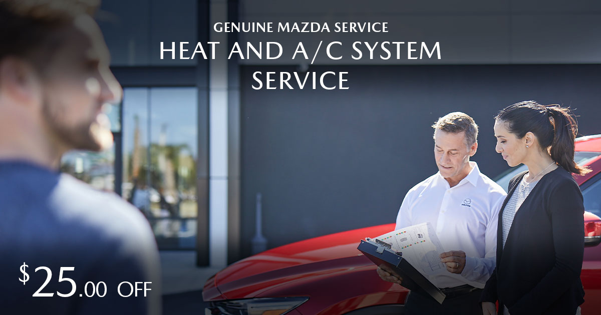 Mazda Heater & A/C System Service Coupon