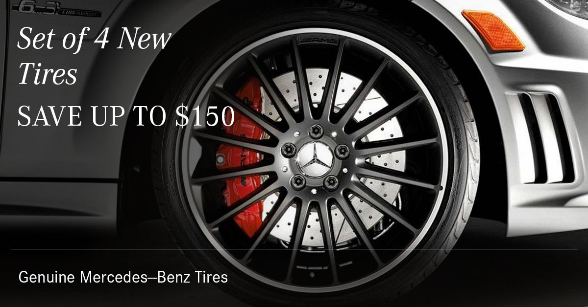Mercedes Set 4 New Tires Service Special Coupon