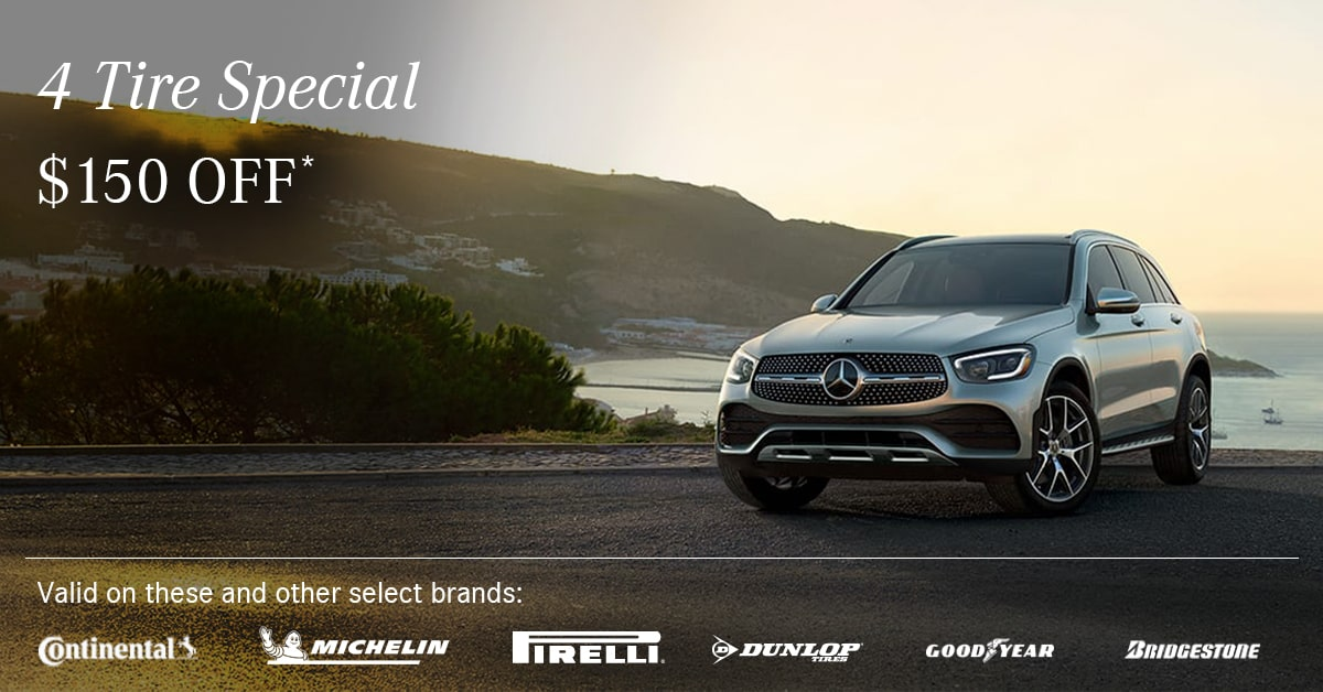 Mercedes 4 Tire Special Coupon