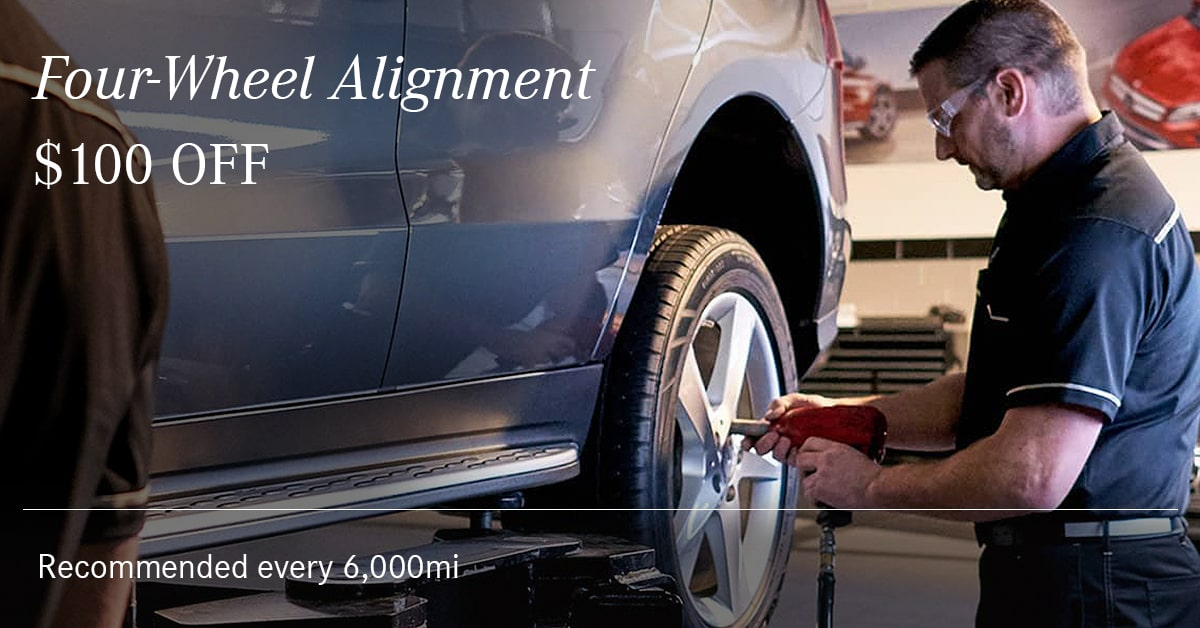 Mercedes Four-Wheel Alignment Service Special Coupon