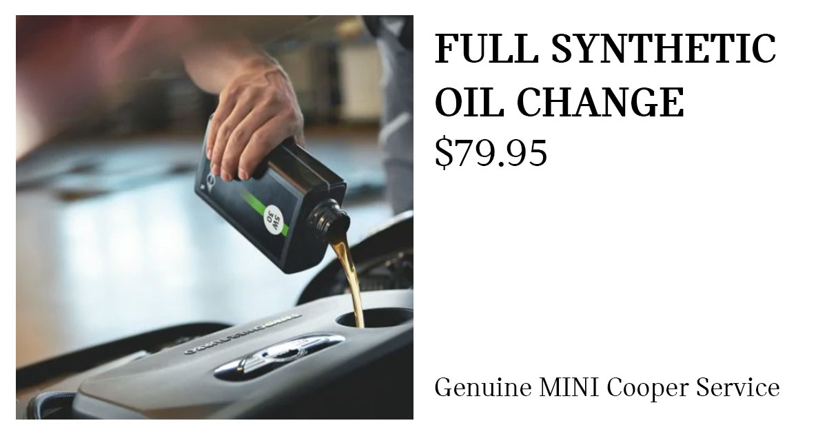 MINI Full Synthetic Oil Change Service Special Coupon