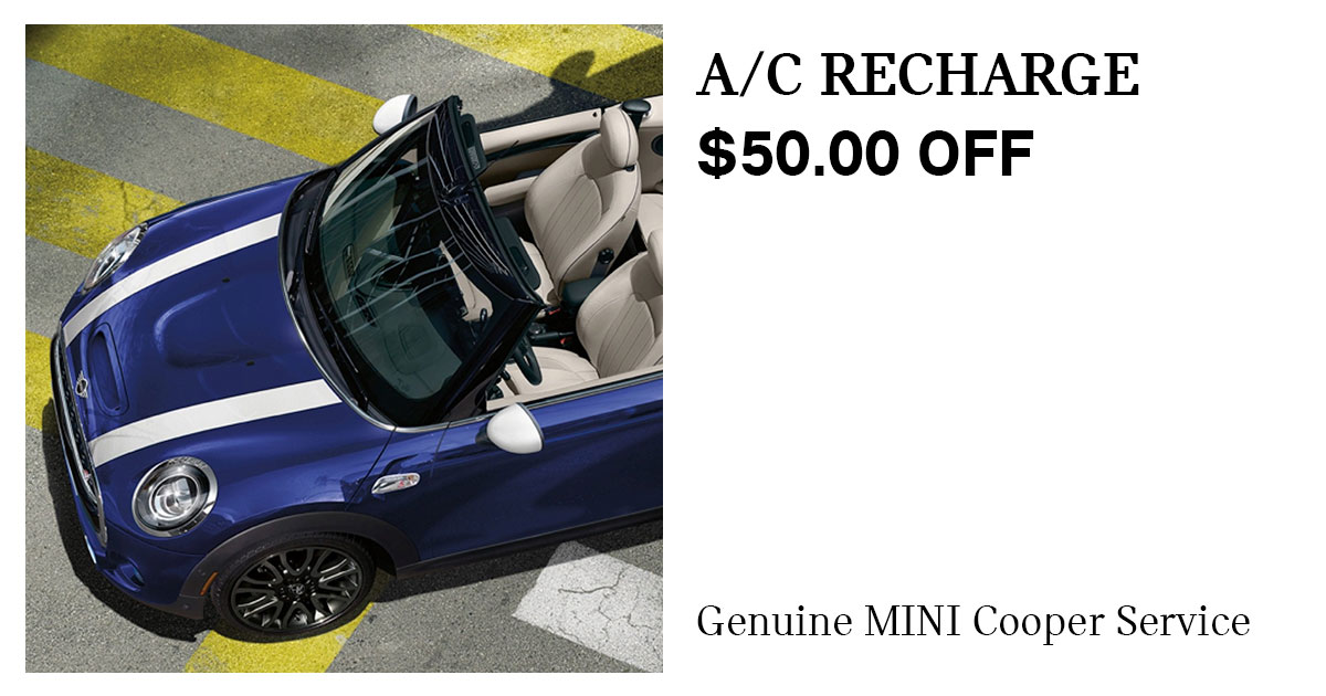 MINI A/C Recharge Service Special Coupon