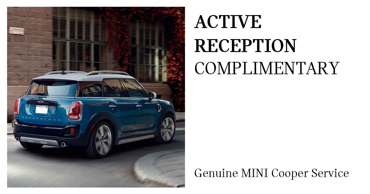 MINI Active Reception Service Special Coupon