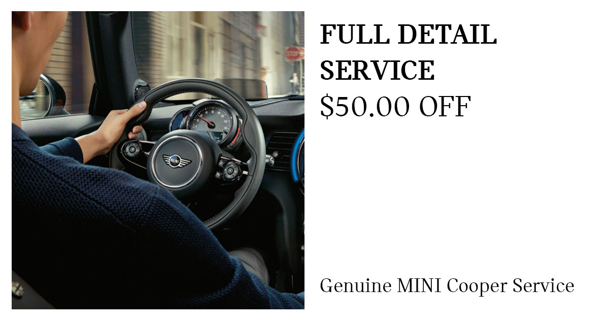 MINI Full Detail Service Special Coupon