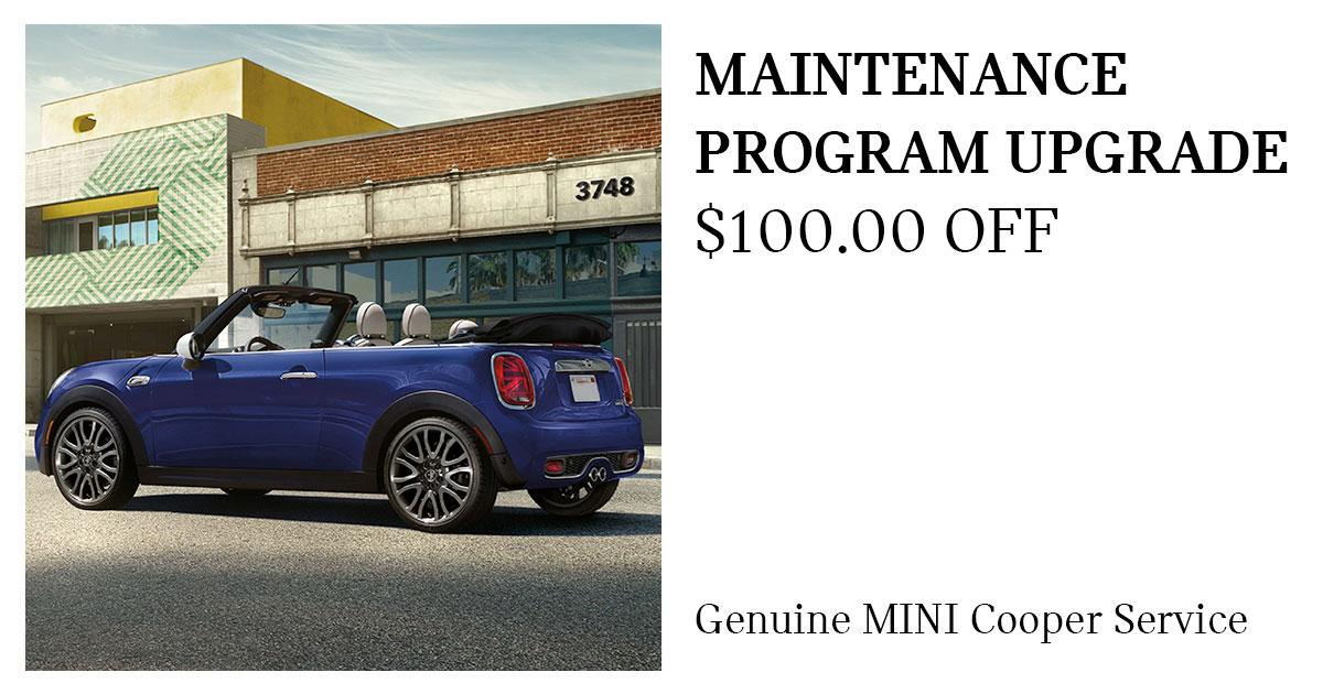 MINI Maintenance Program Upgrade Service Special Coupon