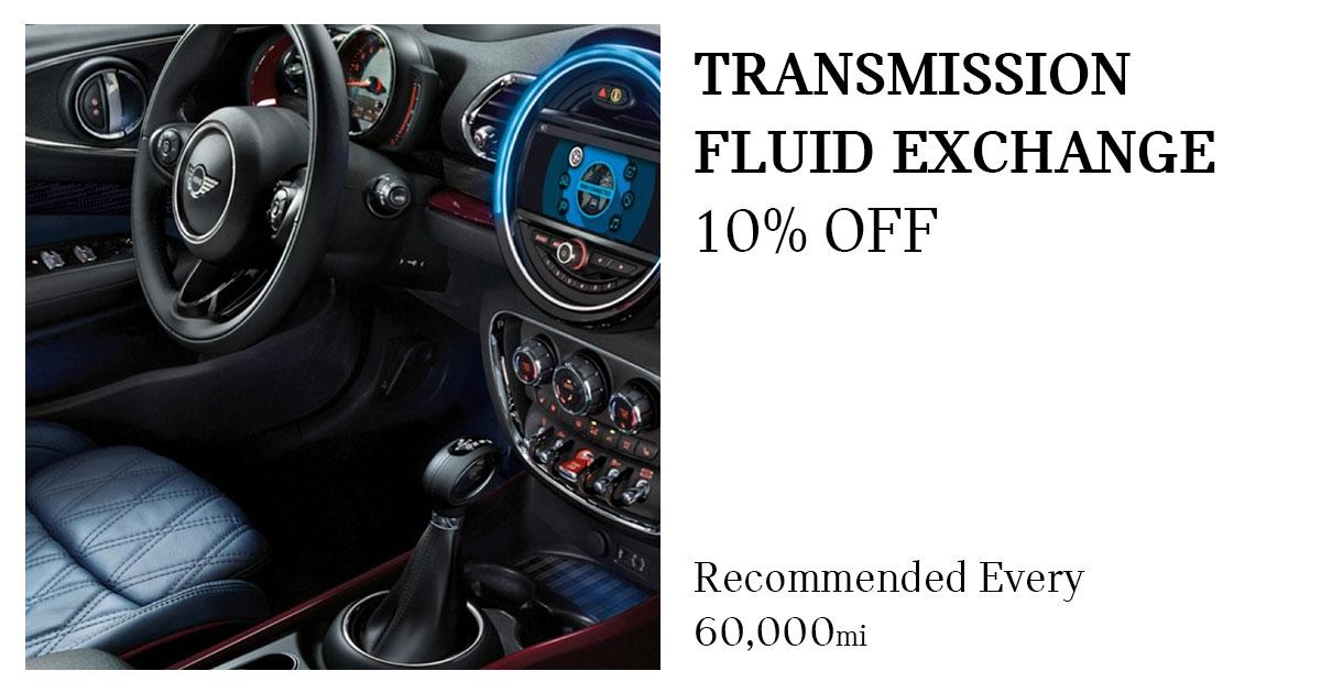 MINI Transmission Fluid Exchange Service Special Coupon