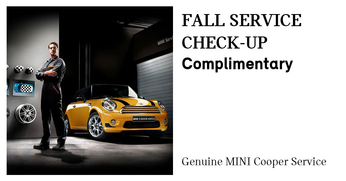 MINI Fall Service Special Coupon