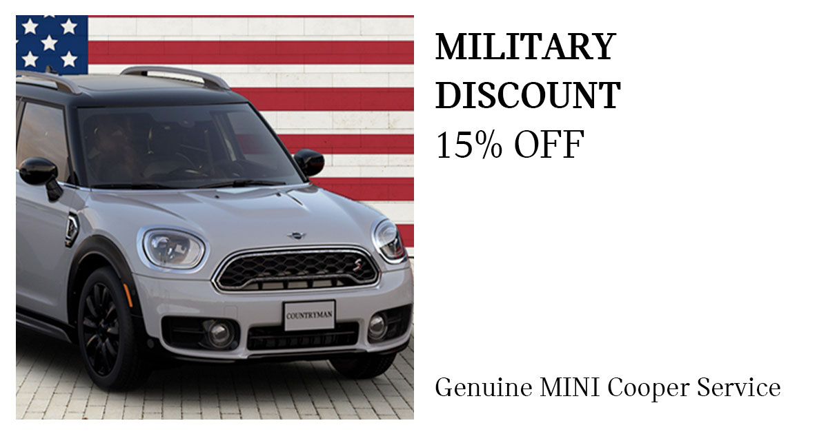 MINI Military Discount Service Special Coupon