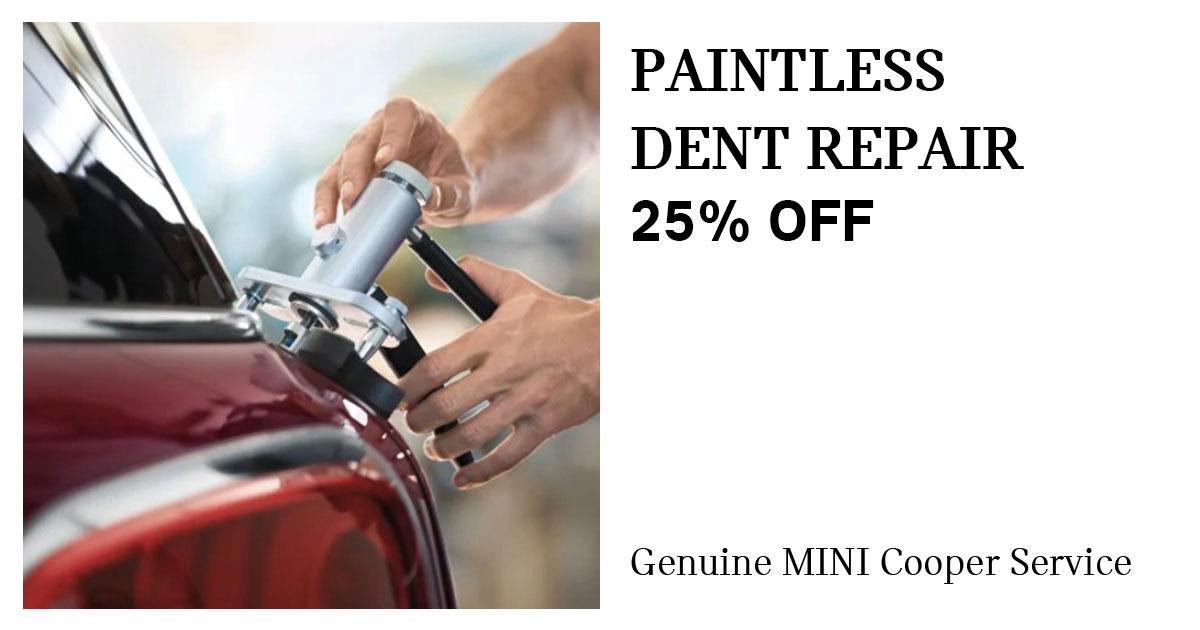 MINI Paintless Dent Repair Service Special Coupon