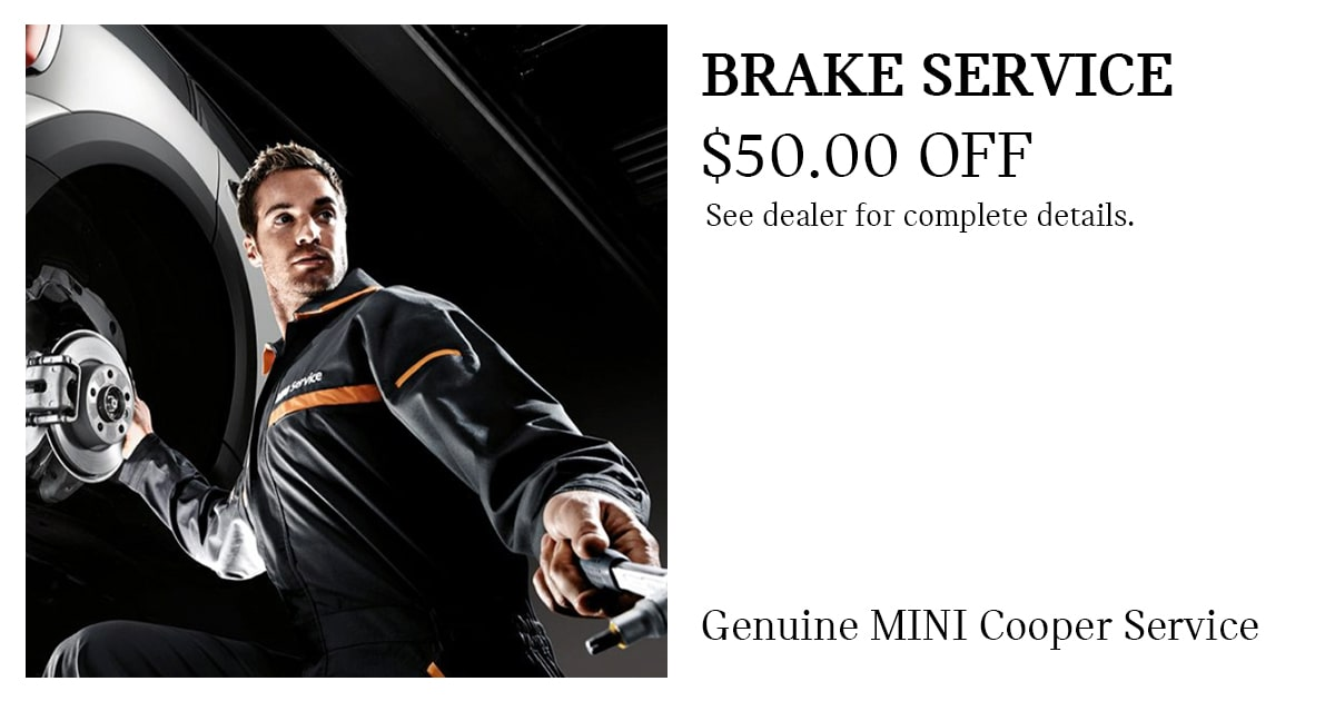 MINI Brake Pad Replacement Service Special Coupon