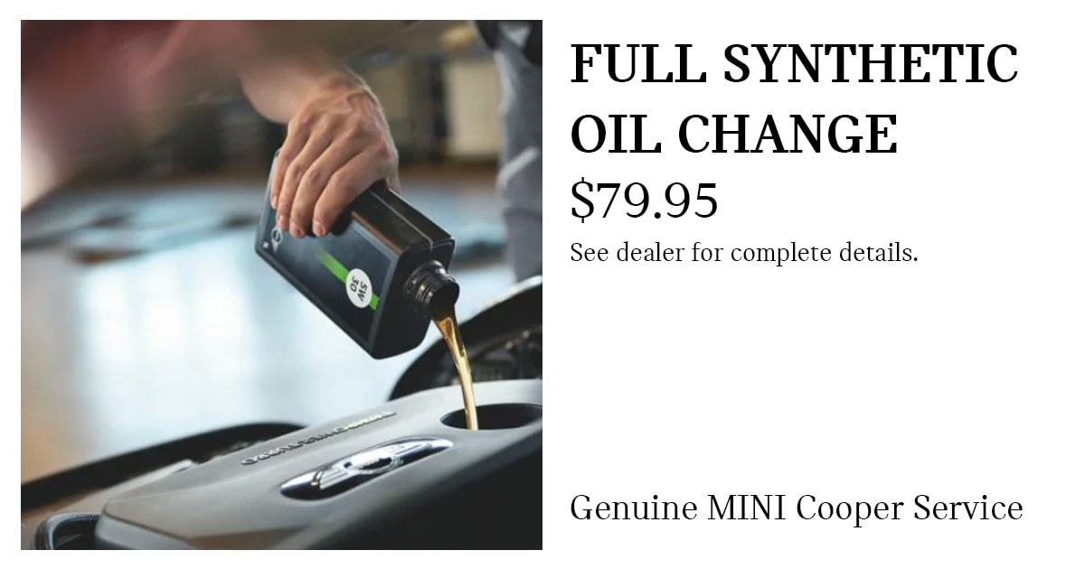 Full Synthetic Oil Change Service Special Coupon