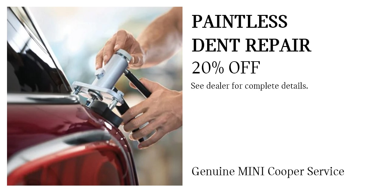 MINI Paintless Dent Repair Service Special Coupon