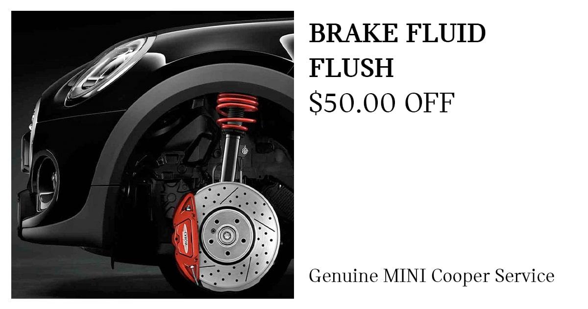 MINI BRAKE FLUID FLUSH Service Special Coupon