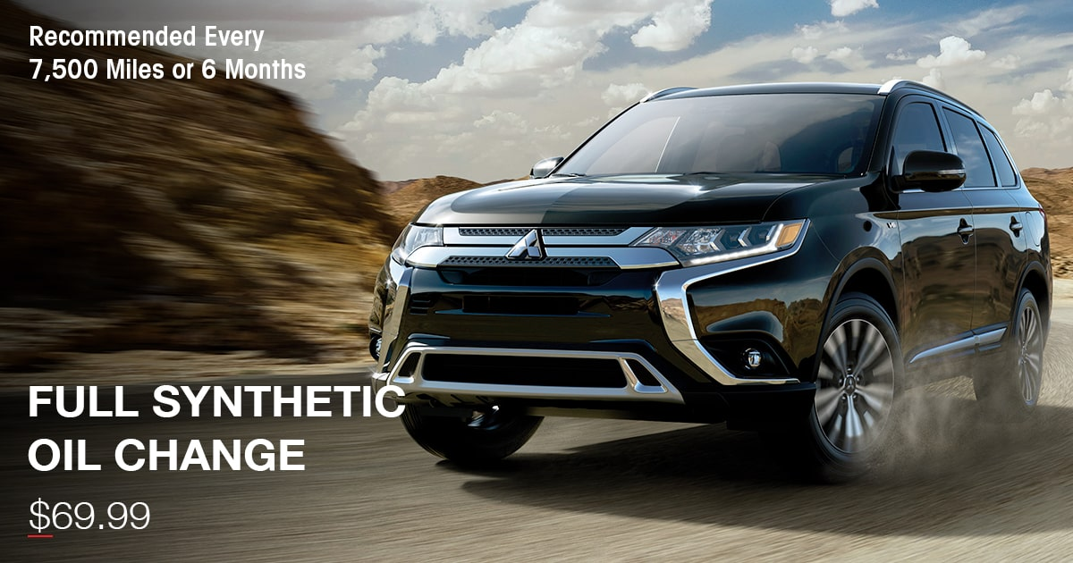 Mitsubishi Full Synthetic Oil Change Service Special Coupon