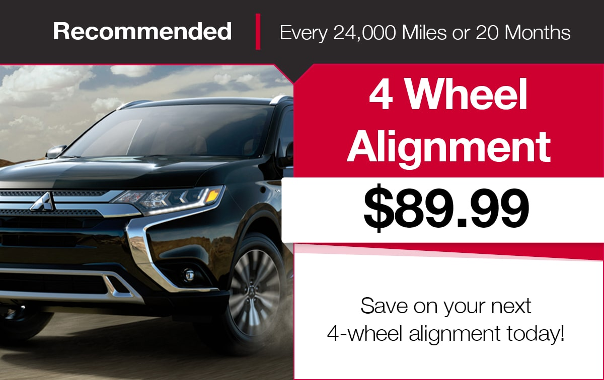 Mitsubishi Four Wheel Alignment Coupon