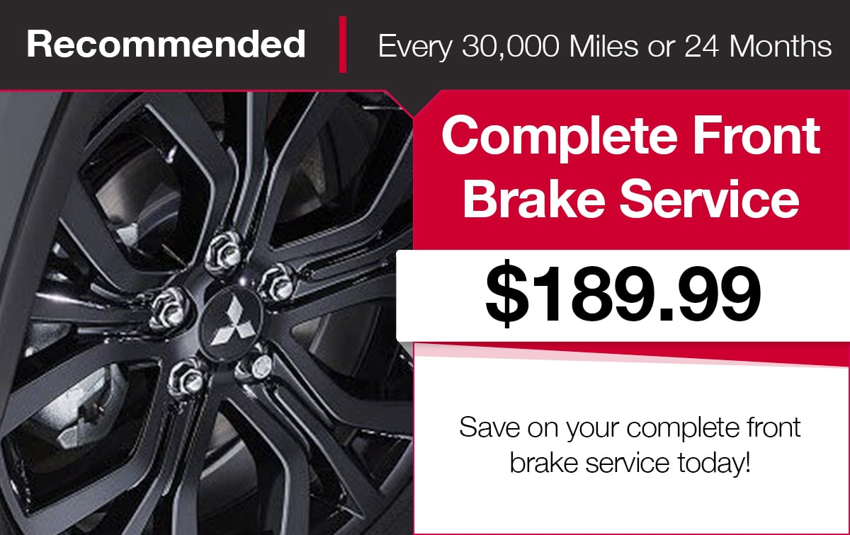 Mitsubishi Front Brake Service Coupon