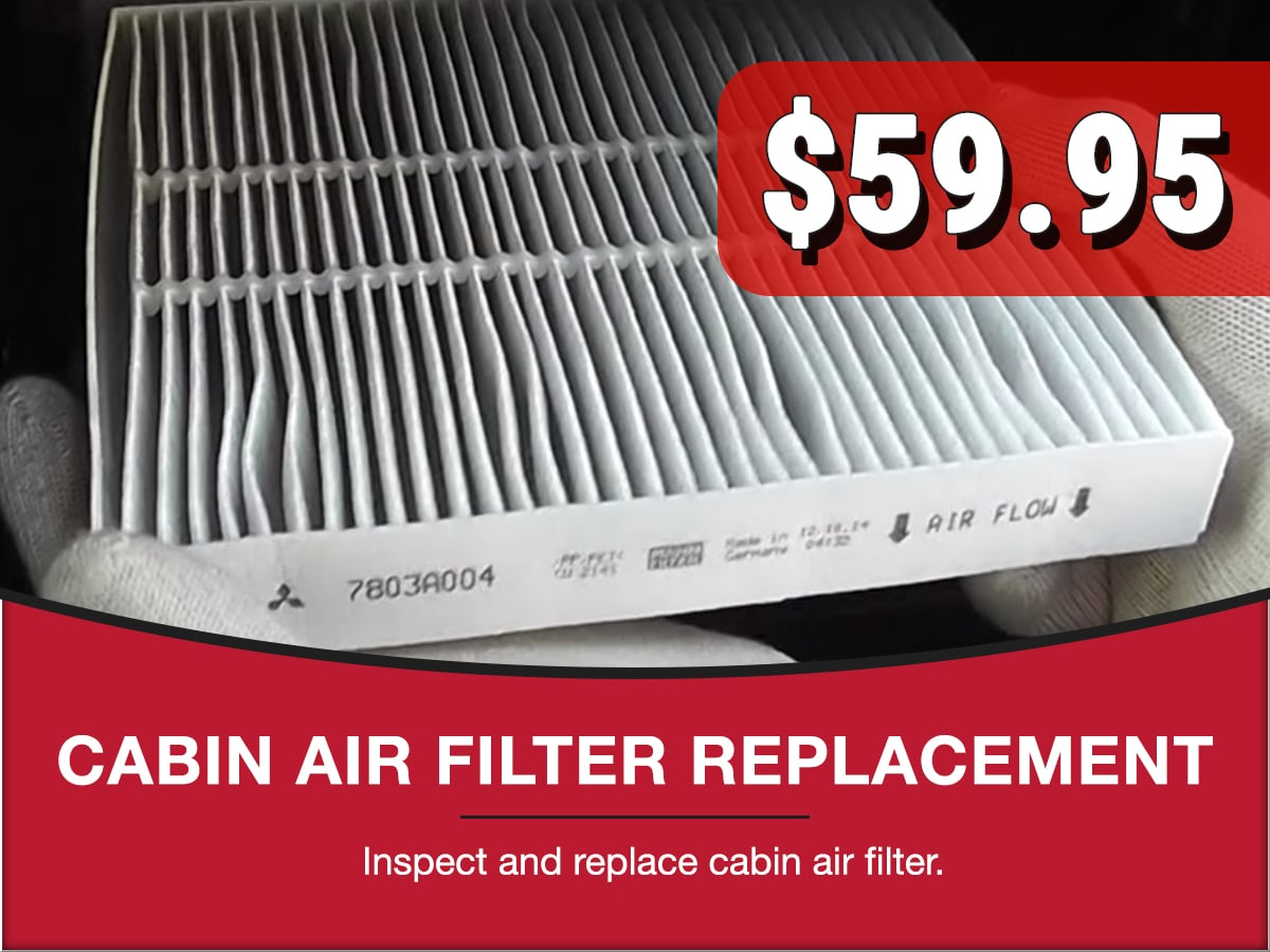 Cabin Air Filter Replacement Special Coupon