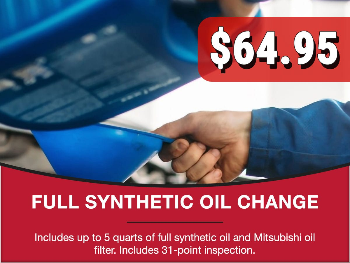 Full Synthetic Oil Change Special Coupon