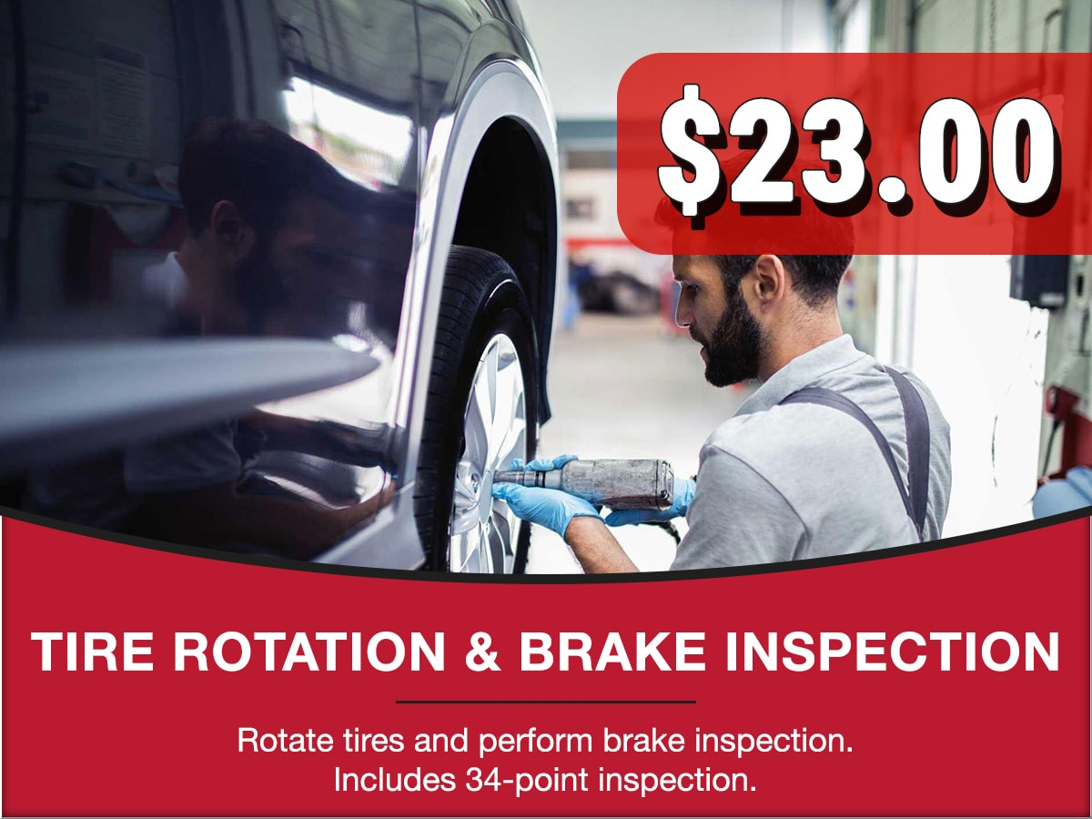 Tire Rotation & Brake Inspection Special Coupon