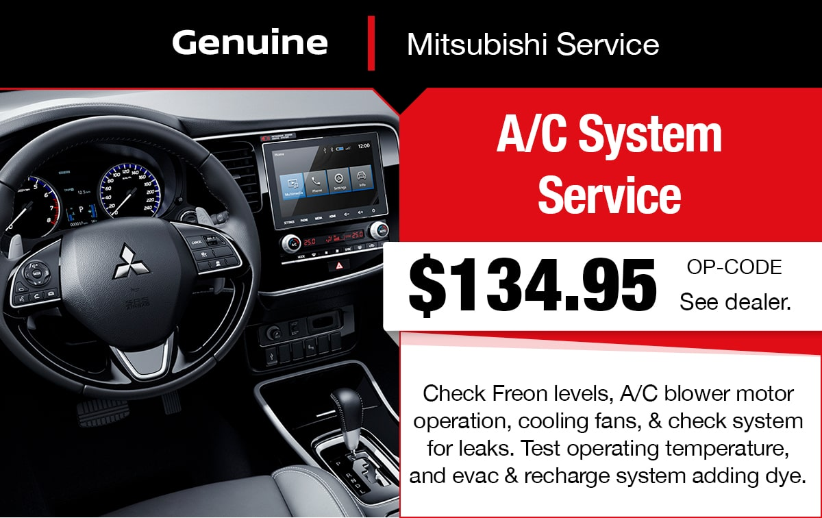 Mitsubishi A/C System Service Special Coupon