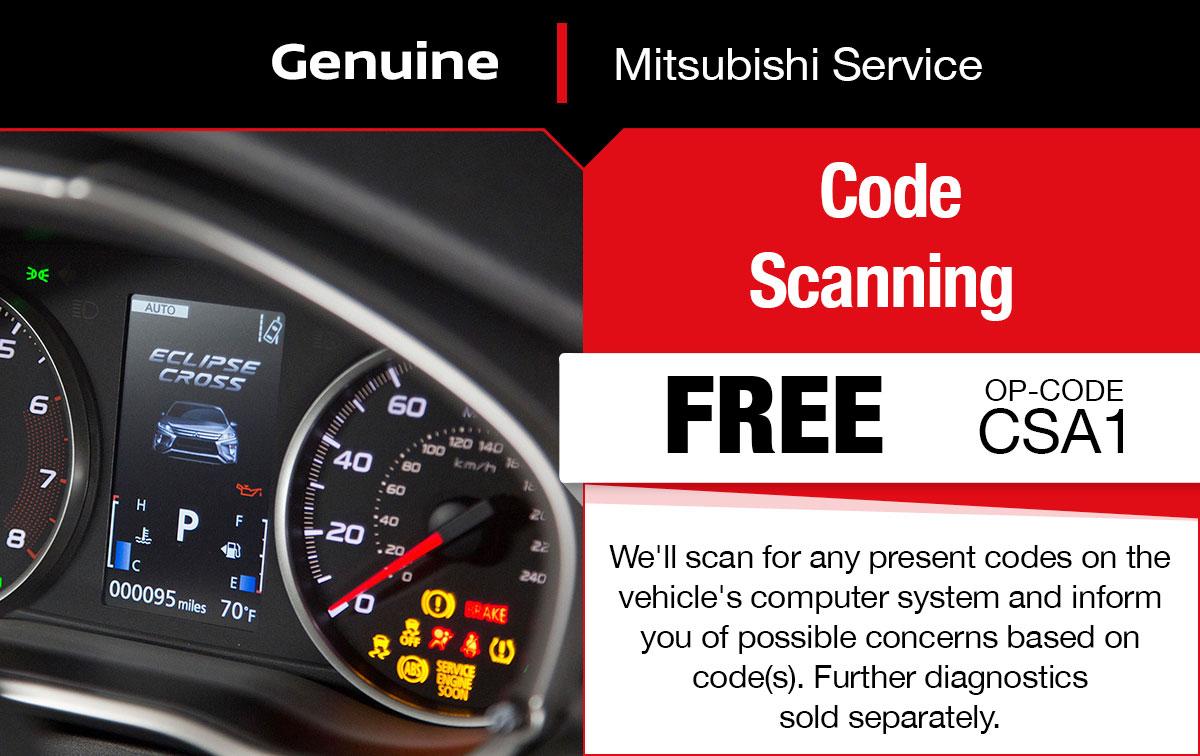 Mitsubishi Code Scanning Service Special Coupon