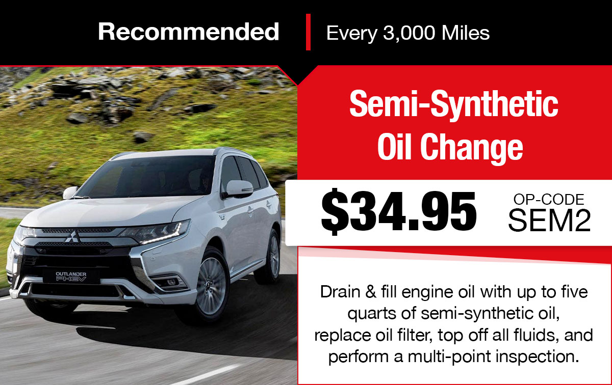 Mitsubishi Semi-Synthetic Oil Change Service Special Coupon