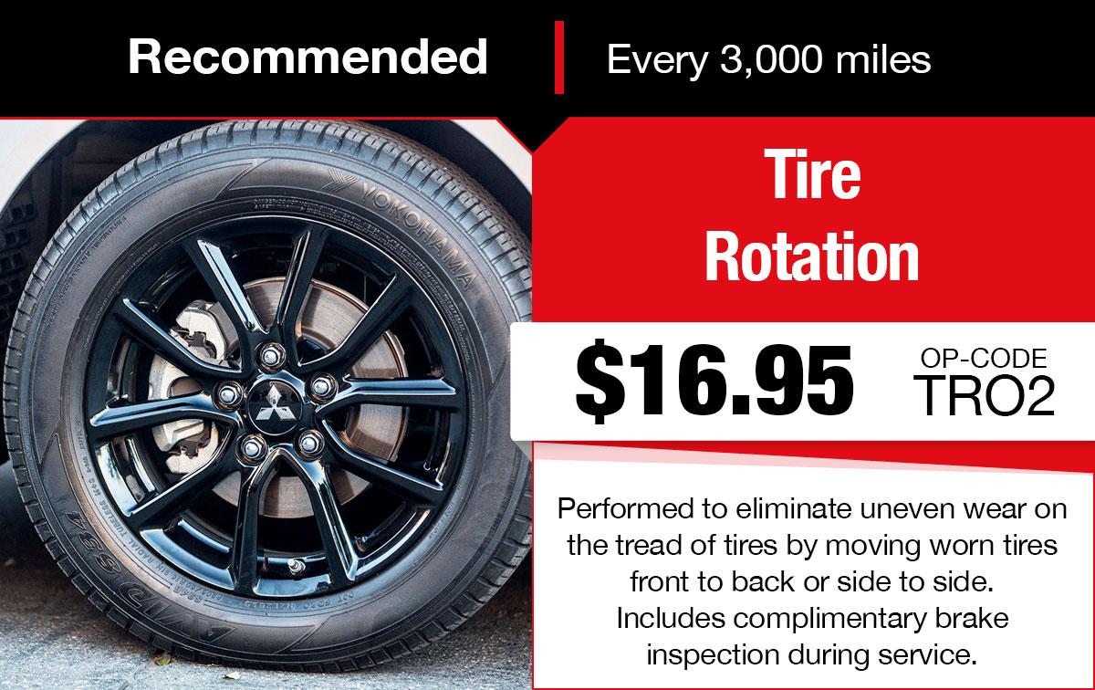 Mitsubishi Tire Rotation Service Special Coupon