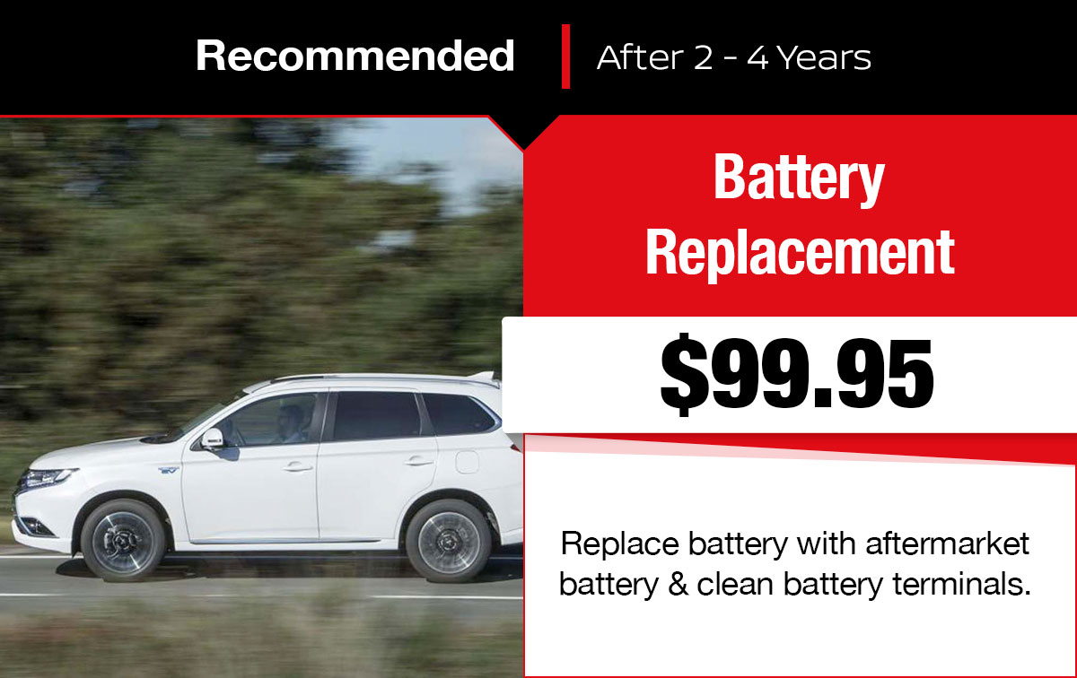 Mitsubishi Battery Replacement Service Special Coupon