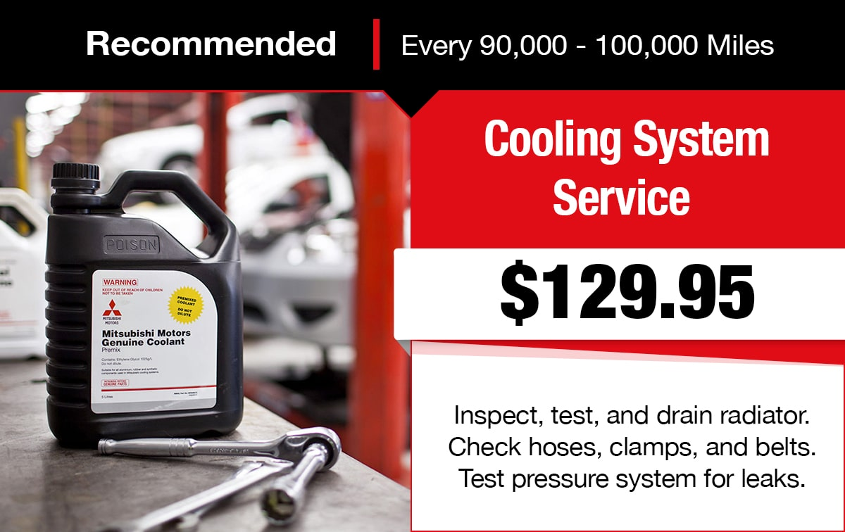 Mitsubishi Cooling System Service Special Coupon