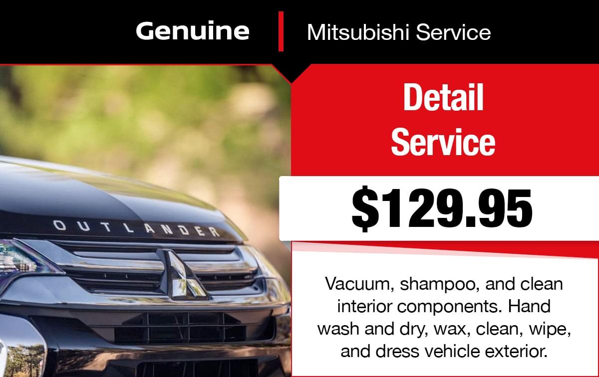 Mitsubishi Detail Service Special Coupon