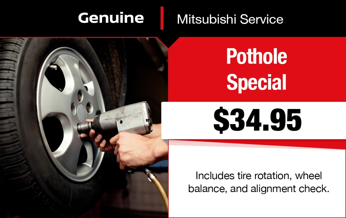 Mitsubishi Pothole Service Special Coupon