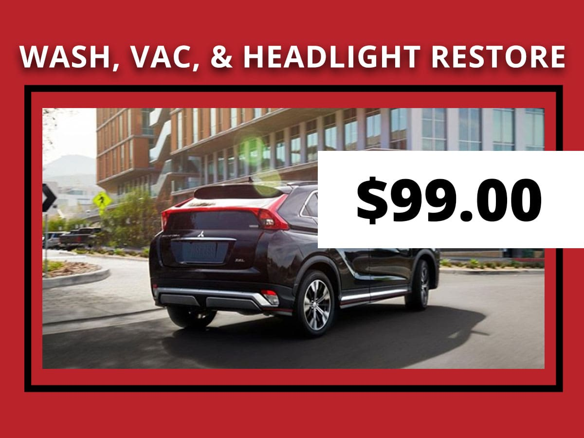 Wash, Vac, & Headlight Restore Maintenance Interval Service Coupon