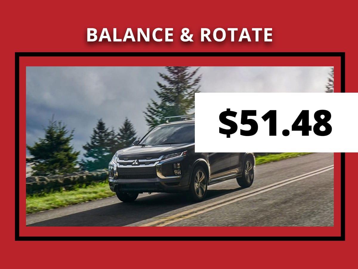 Mitsubishi Tire Rotation & Balance Service Special Coupon