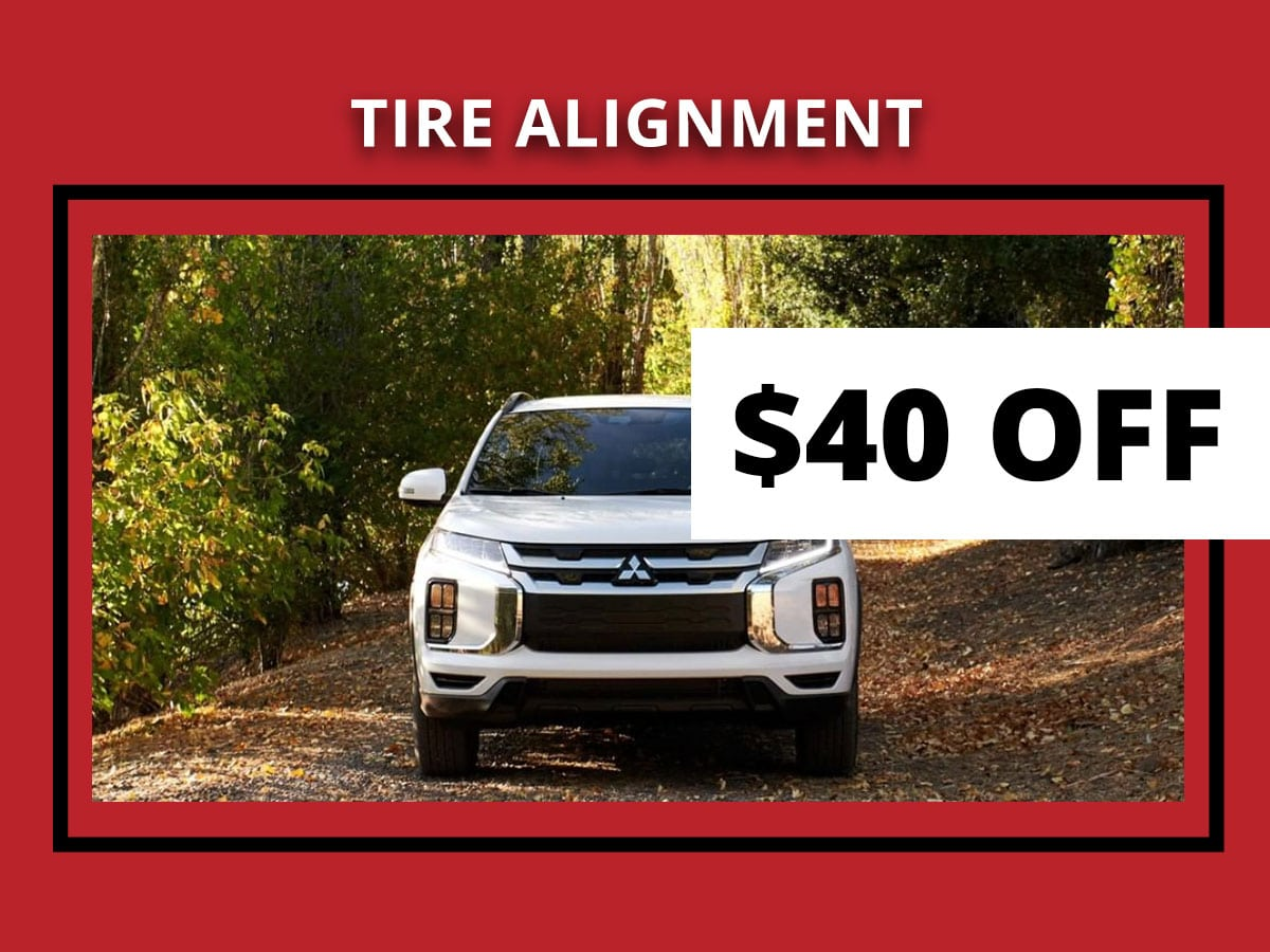 Mitsubishi Tire Alignment Service Special Coupon