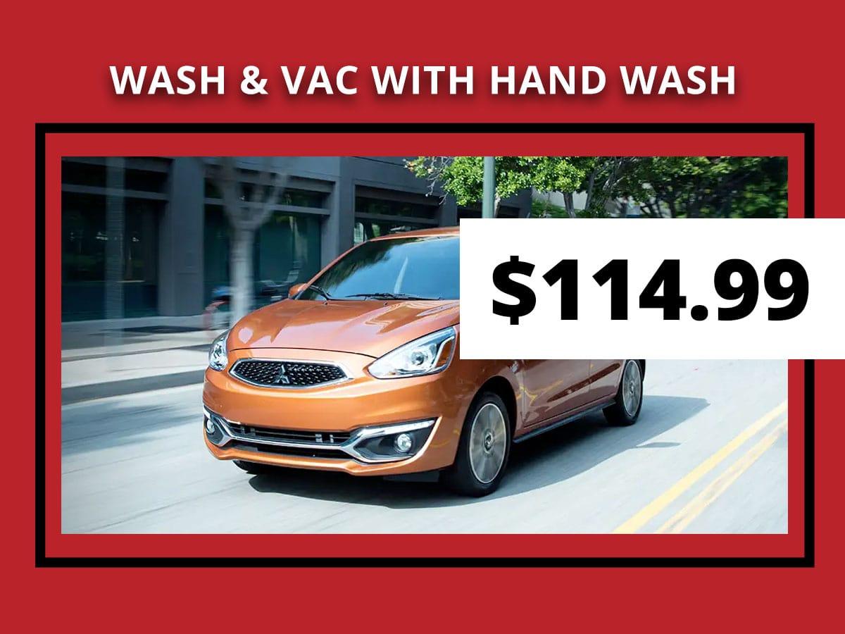Wash, Vac, &  Hand Wash Service Coupon