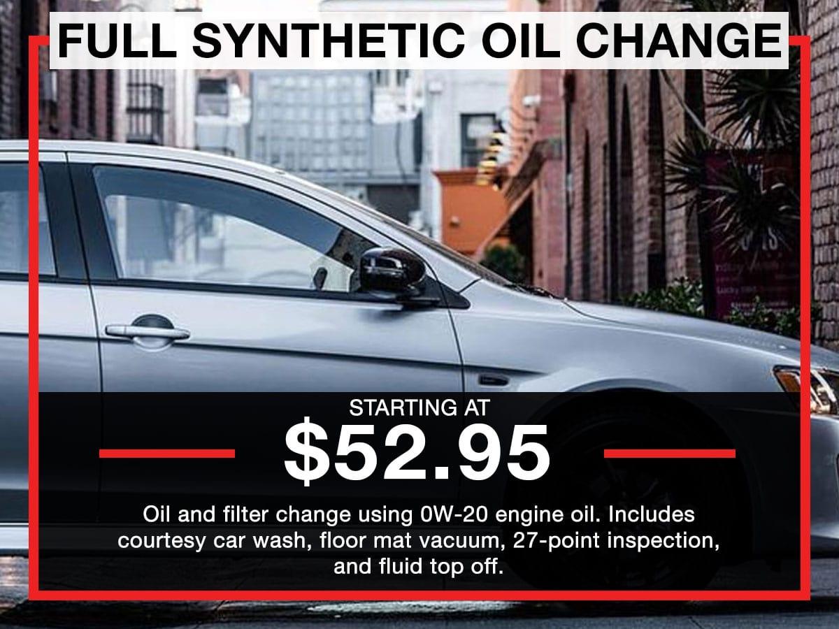 Synthetic Oil Change >> Full Synthetic Oil Change White Bear Mitsubishi