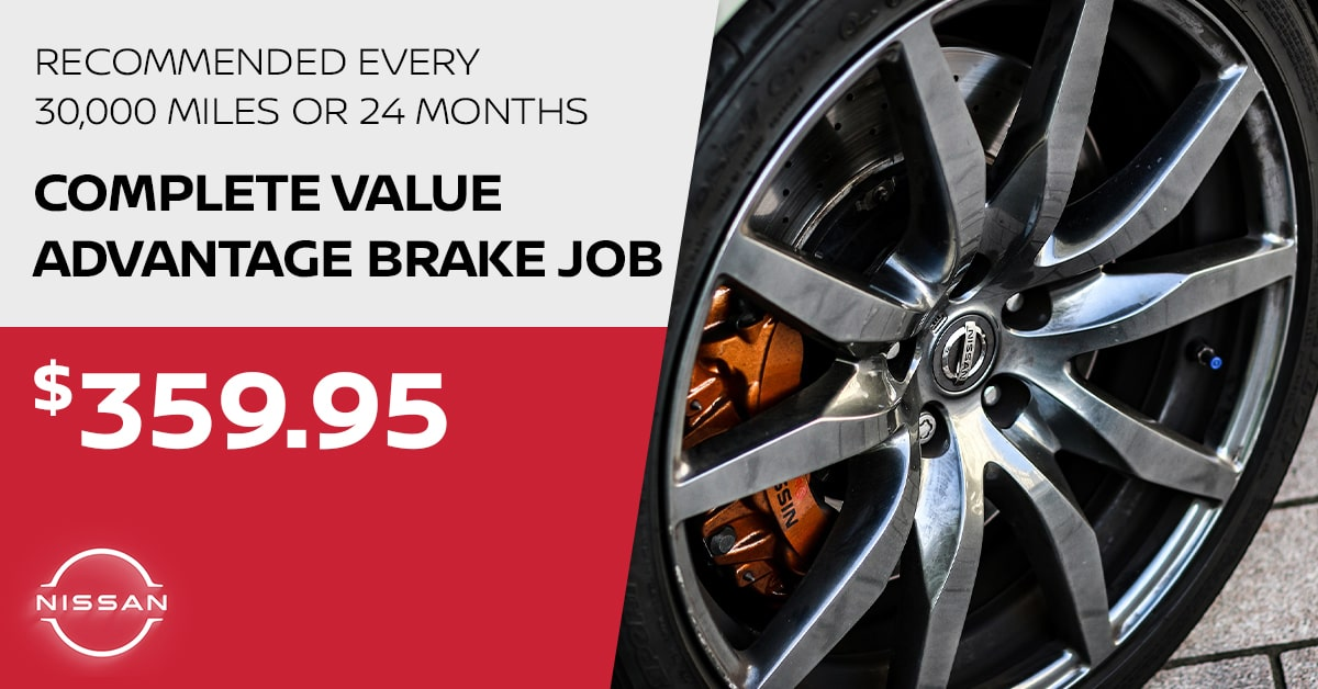 Nissan Brake Job Service Special Coupon