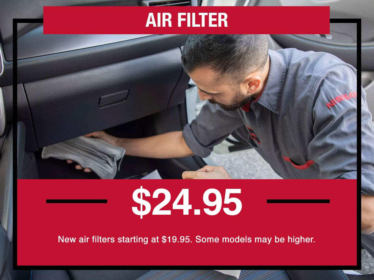 Nissan Air Filter Special Coupon