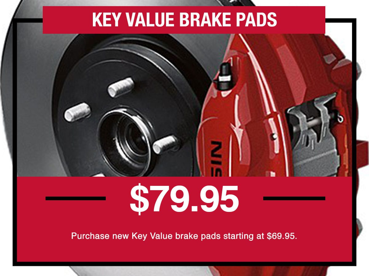 Nissan Key Value Brake Pads Special Coupon