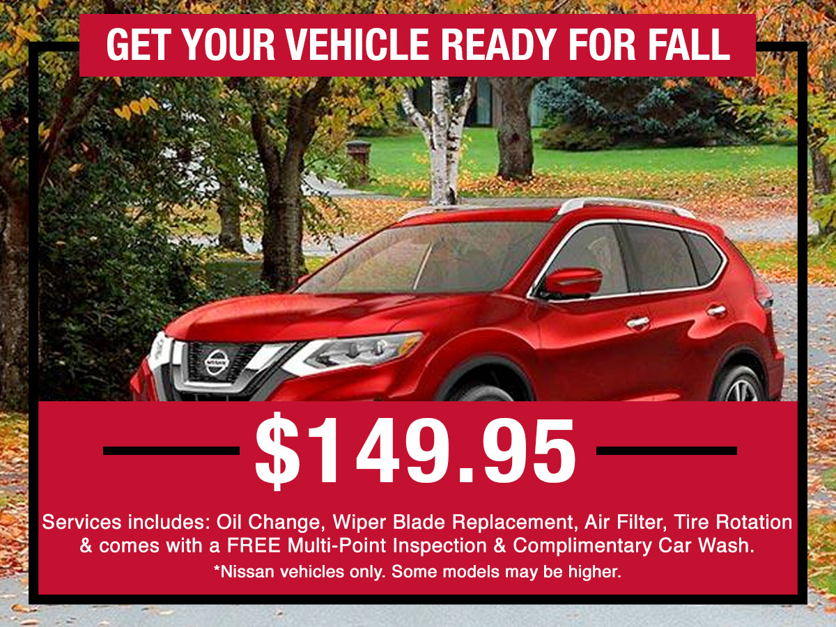 Get Your Vehicle Ready for Fall Special